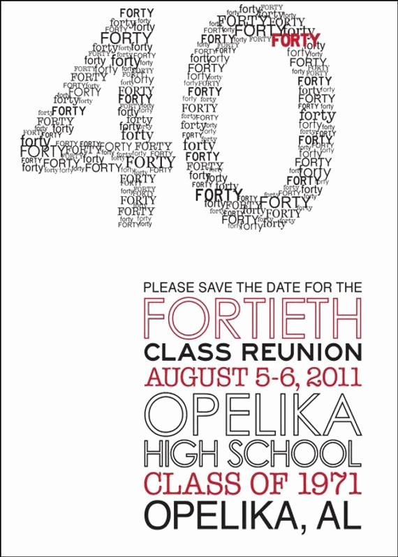 Class Reunion Invitation Template Free Awesome Modern Class Reunion Invitation