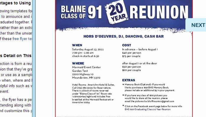 Class Reunion Invitation Template Free Beautiful 5 High School Reunion Flyer Templates