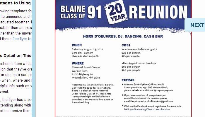 Class Reunion Invitation Template Free Beautiful 5 High School Reunion Flyer Templates