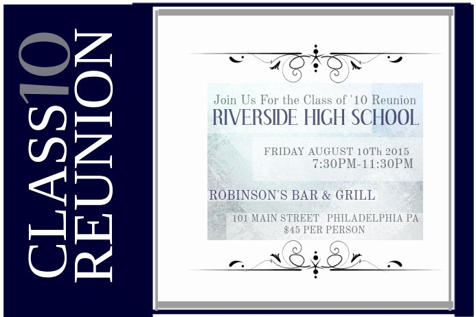 Class Reunion Invitation Template Free Beautiful Copy Of Class Reunion