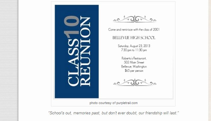 Class Reunion Invitation Template Free Elegant 5 High School Reunion Flyer Templates