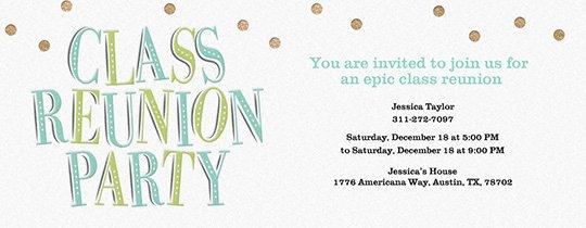 Class Reunion Invitation Template Free Elegant Free Class & Family Reunion Invitations