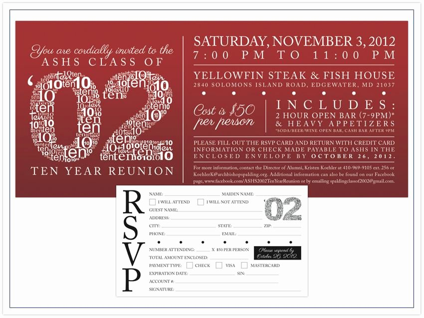 Class Reunion Invitation Template Free Elegant High School Reunion Invitation
