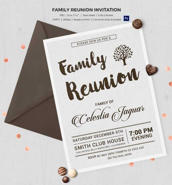 Class Reunion Invitation Template Free Fresh 25 Family Reunion Invitation Templates Free Psd