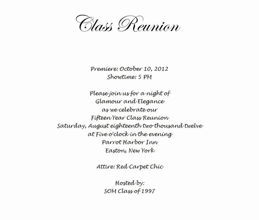 Class Reunion Invitation Template Free Fresh Class Reunion Invitation 3 Wording