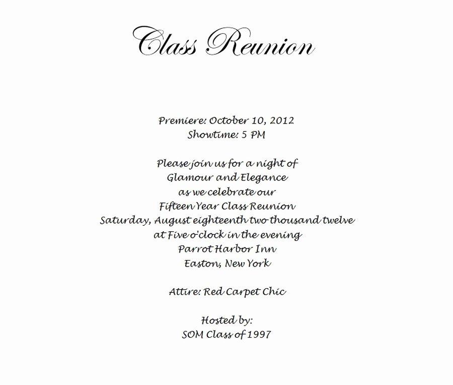 Class Reunion Invitation Template Free Fresh Class Reunion Invitation 3 Wording