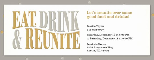 Class Reunion Invitation Template Free Fresh Free Class & Family Reunion Invitations