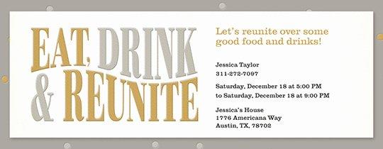 Class Reunion Invitation Template Free Fresh Free Class & Family Reunion Invitations
