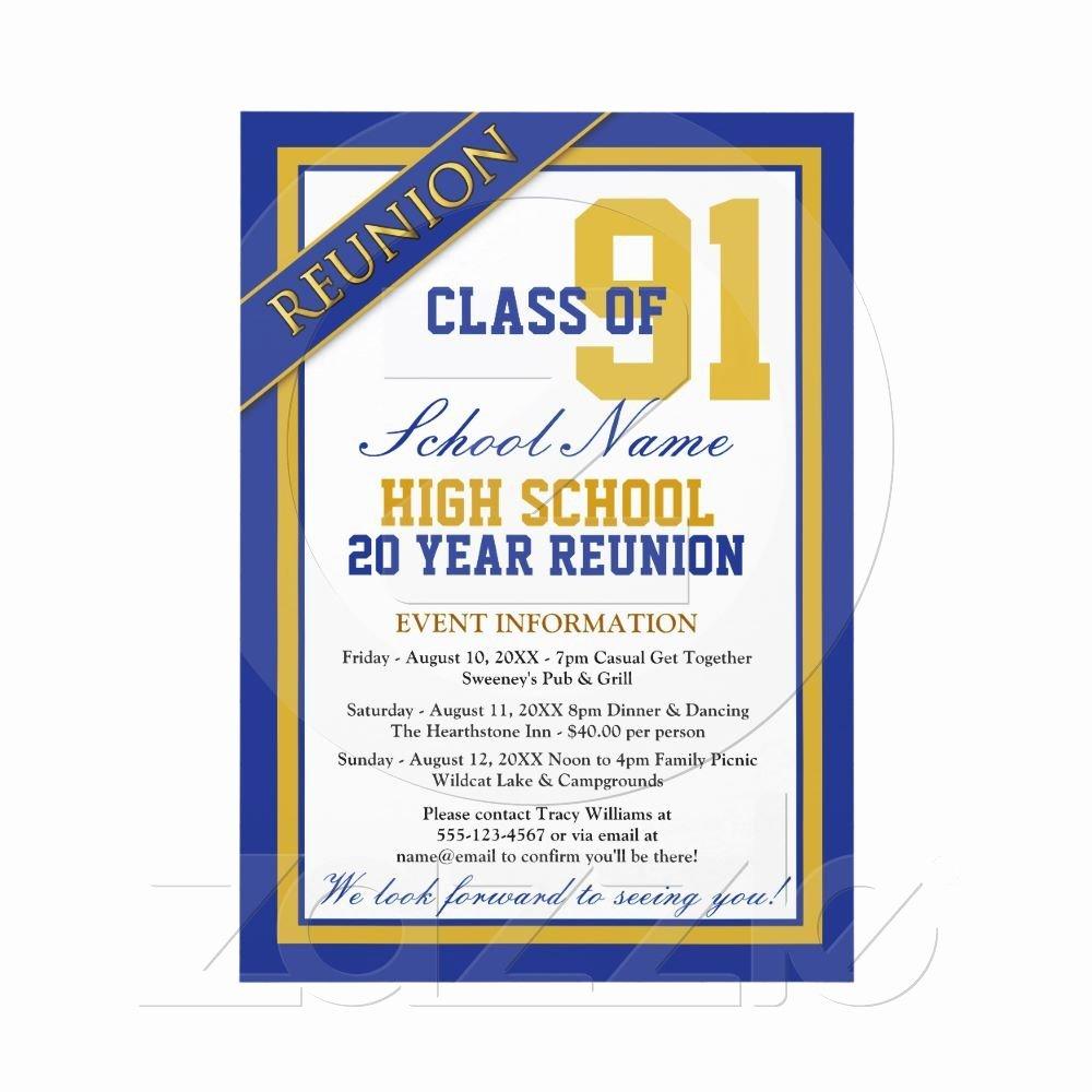 Class Reunion Invitation Template Free Inspirational Classy formal High School Reunion Invitations