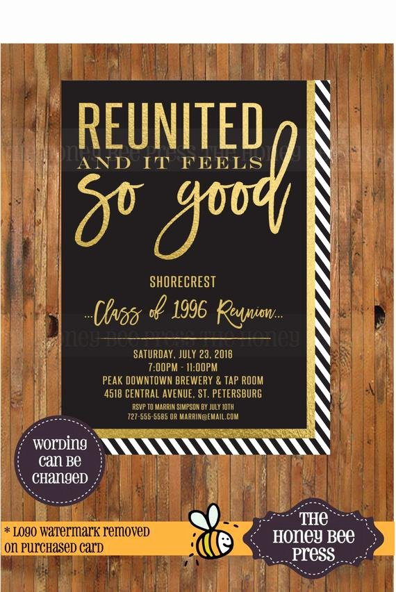 Class Reunion Invitation Template Free Lovely High School Reunion Invitation Reunited and It Feels so Good