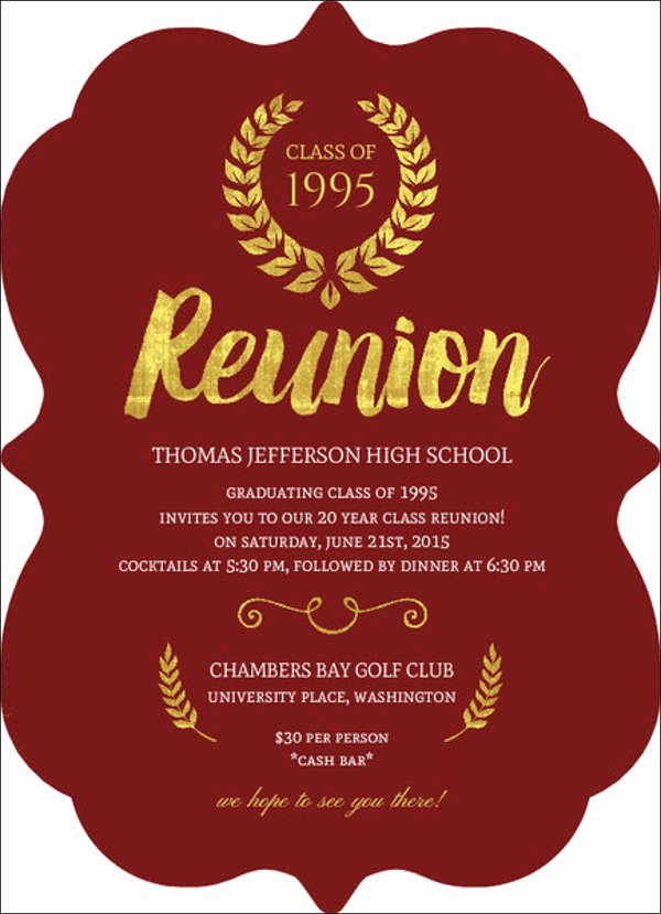 Class Reunion Invitation Template Free Luxury 15 Reunion Invitation Templates Psd Ai