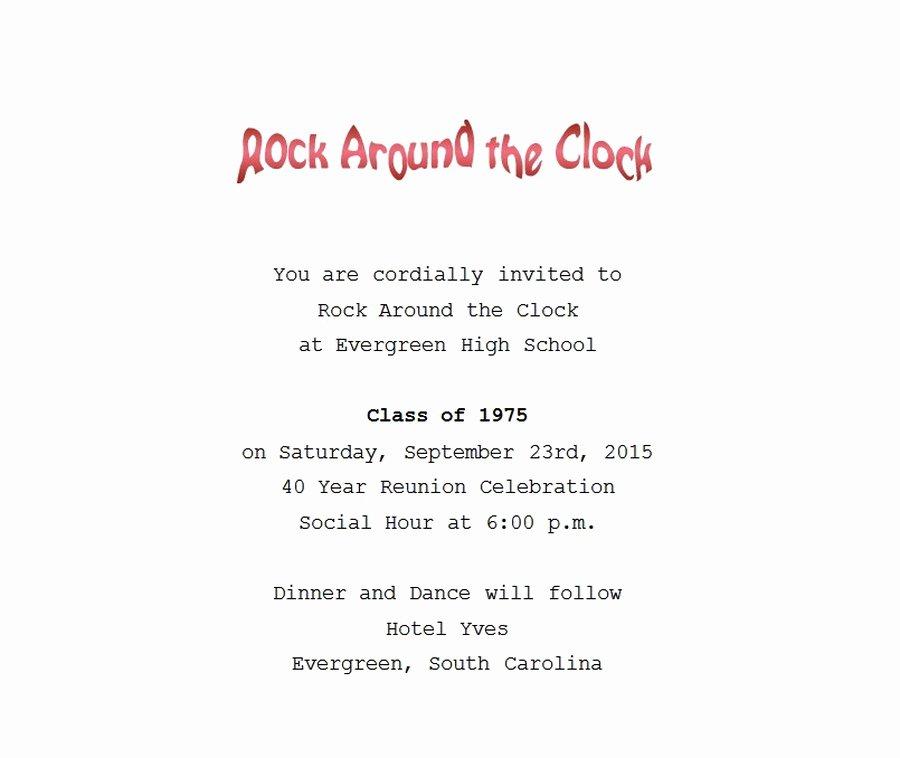 Class Reunion Invitation Template Free New Class Reunion Invitation 1 Wording