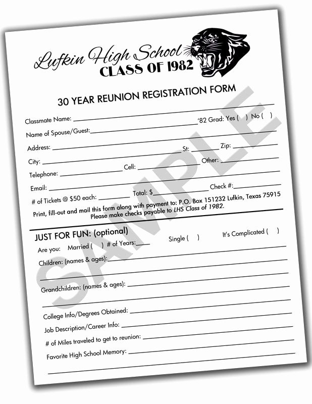 Class Reunion Registration form Template Fresh 16 Best Invitations Images On Pinterest