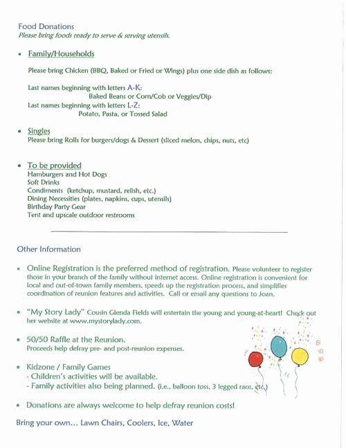 Class Reunion Registration form Template Inspirational Reunion Invites Reunions Magazine