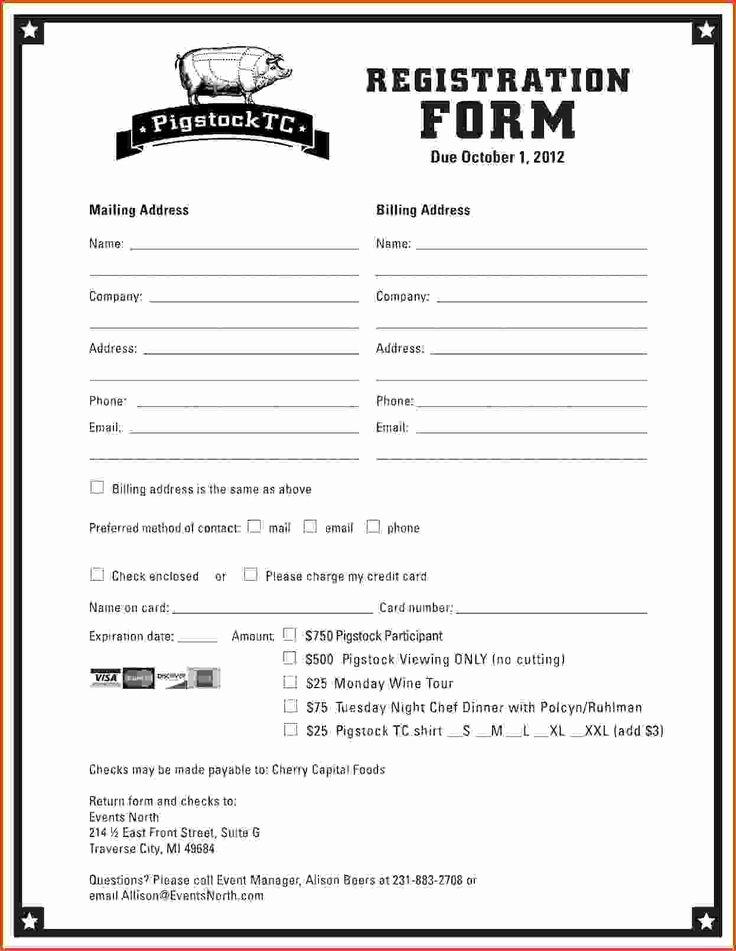 Class Reunion Registration form Template Unique Best 25 Registration form Sample Ideas On Pinterest