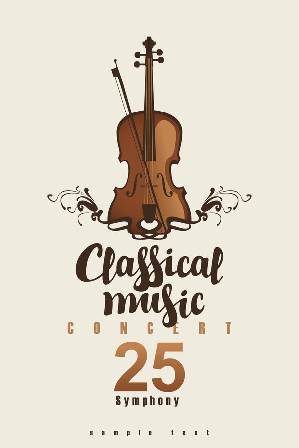 Classical Music Concert Posters Awesome Classical Music Retro Concert Poster Template 10 Vector
