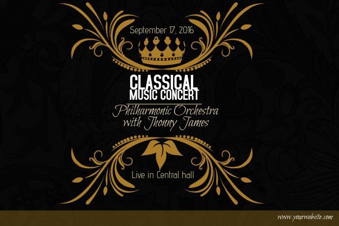 Classical Music Concert Posters Best Of Classical Music Concert Gold Poster Template