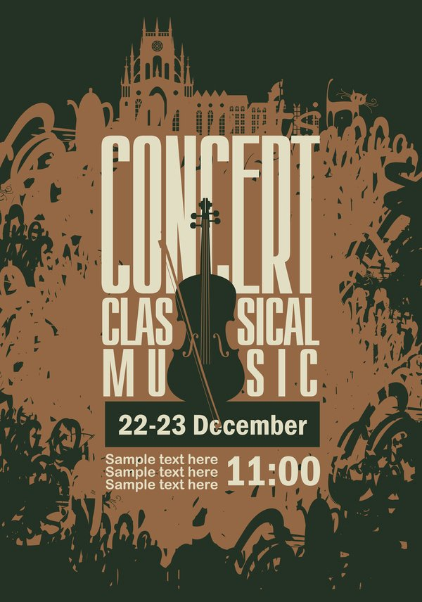 Classical Music Concert Posters Best Of Classical Music Retro Concert Poster Template 06 Free