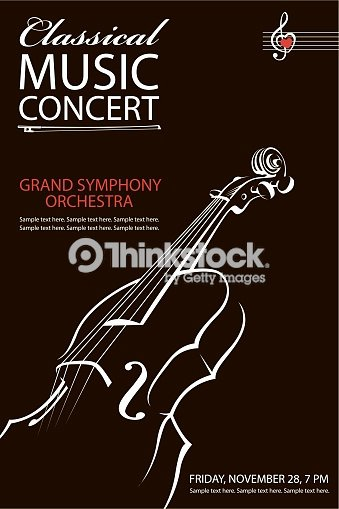 Classical Music Concert Posters Inspirational Classical Concert Poster Stock Vector