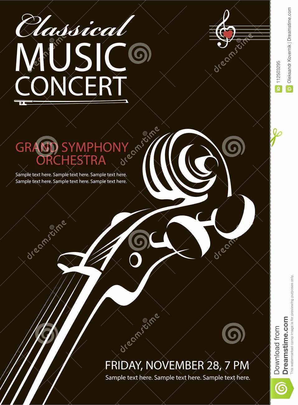 Classical Music Concert Posters Lovely Classical Cartoons Illustrations & Vector Stock