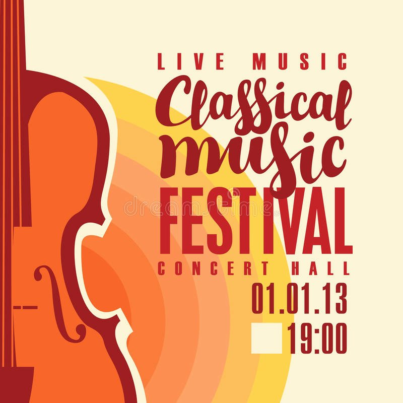 Classical Music Concert Posters Lovely Poster for Festival Classical Music with Saxophone Stock