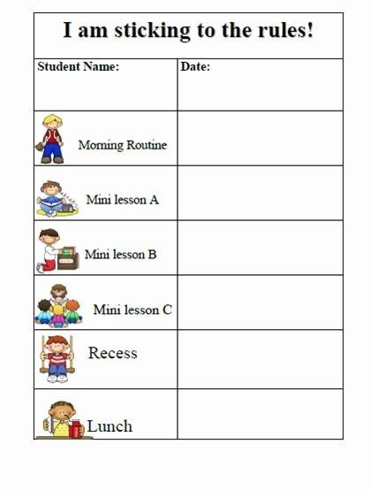 Classroom Behavior Chart Template Beautiful 27 Awesome Printable Daily Behavior Charts Images