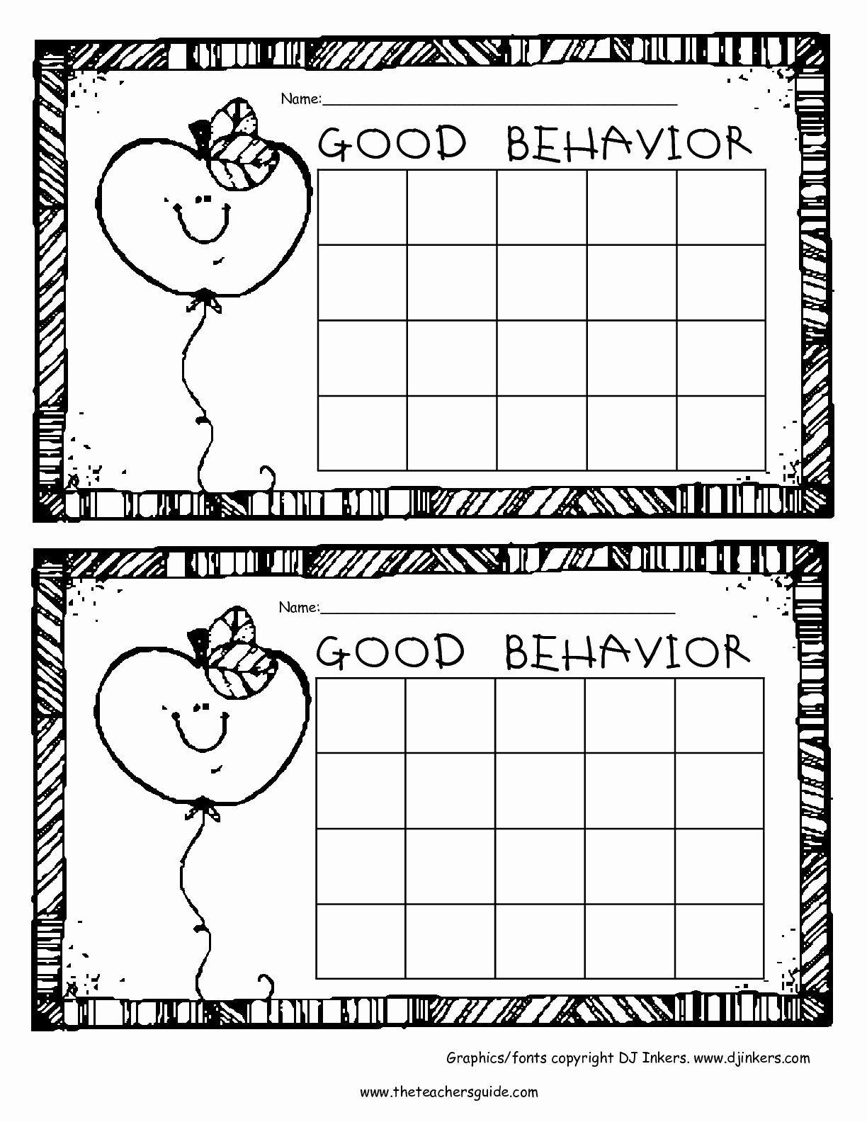 Classroom Behavior Chart Template Best Of Free Printable Reward and Incentive Charts
