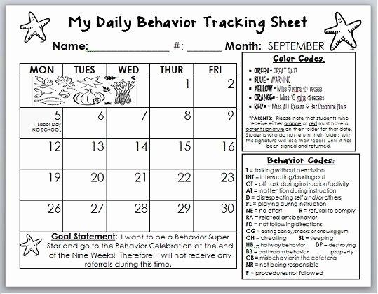 Classroom Behavior Chart Template Inspirational Behavior Calendar Template I Am Going to Tweak This to