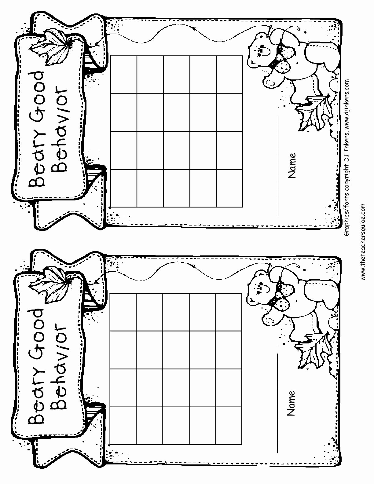 Classroom Behavior Chart Template Lovely Free Printable Reward and Incentive Charts