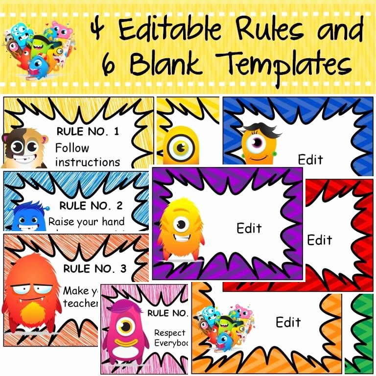 Classroom Behavior Chart Template Luxury Behavior Management Editable Reward Charts Monster Class