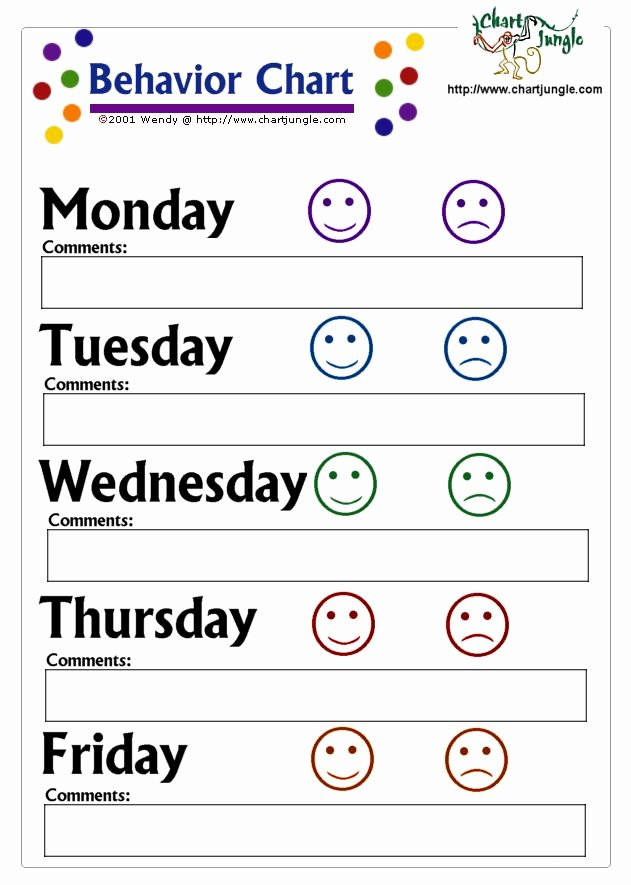 Classroom Behavior Chart Template Luxury Printable Behavior Charts Bing