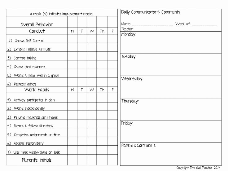 Classroom Behavior Chart Template New 24 Of Behavior Mitment Template