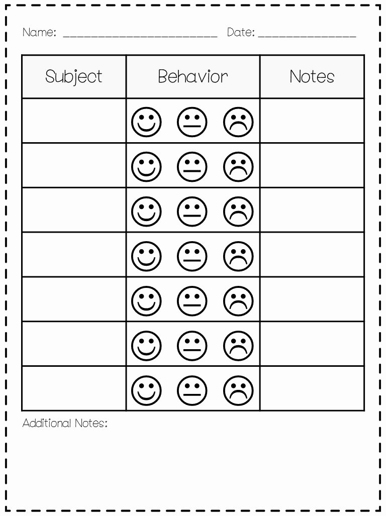 Classroom Behavior Chart Template Unique Classroom Behavior Mrs Wills Kindergarten