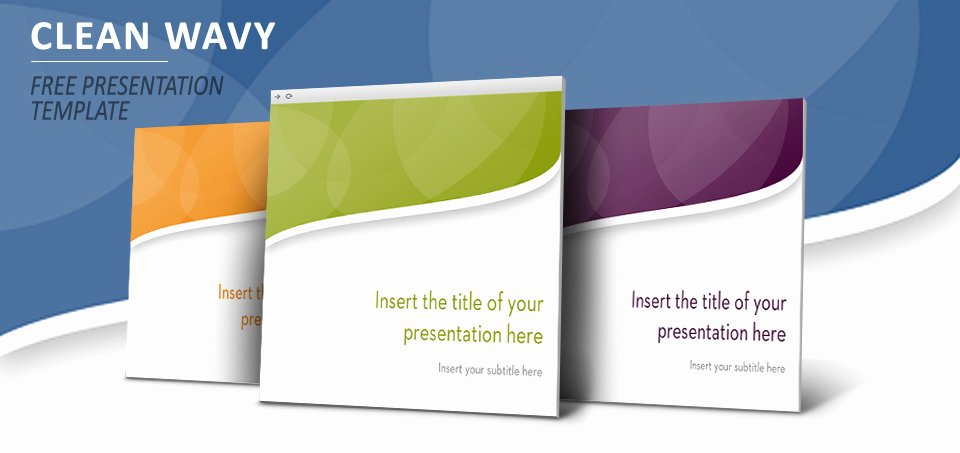 Clean Powerpoint Templates Free Awesome Clean Wavy – Free Template for Powerpoint and Impress