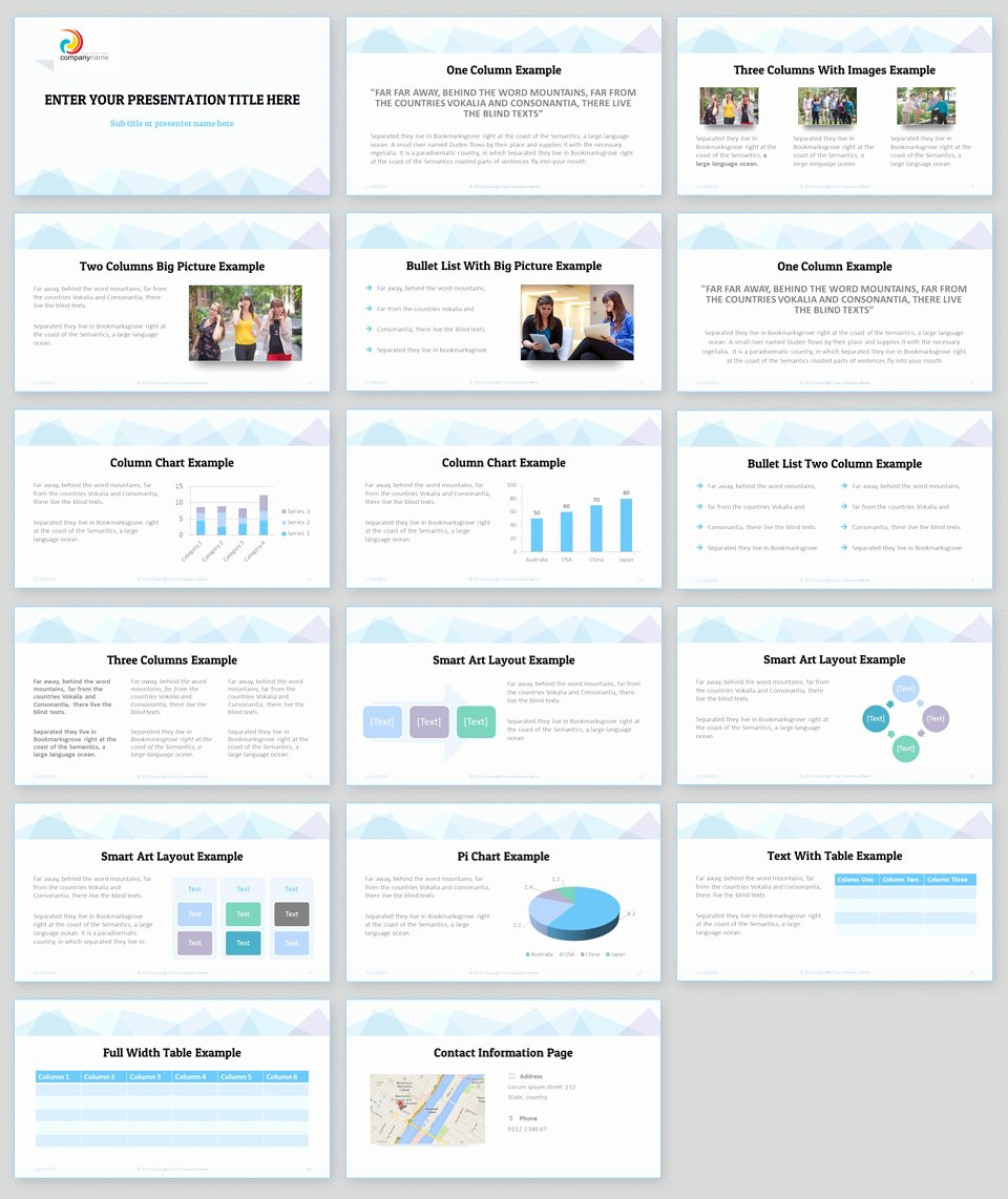 Clean Powerpoint Templates Free Awesome Professional Powerpoint Template Consistent Color theme