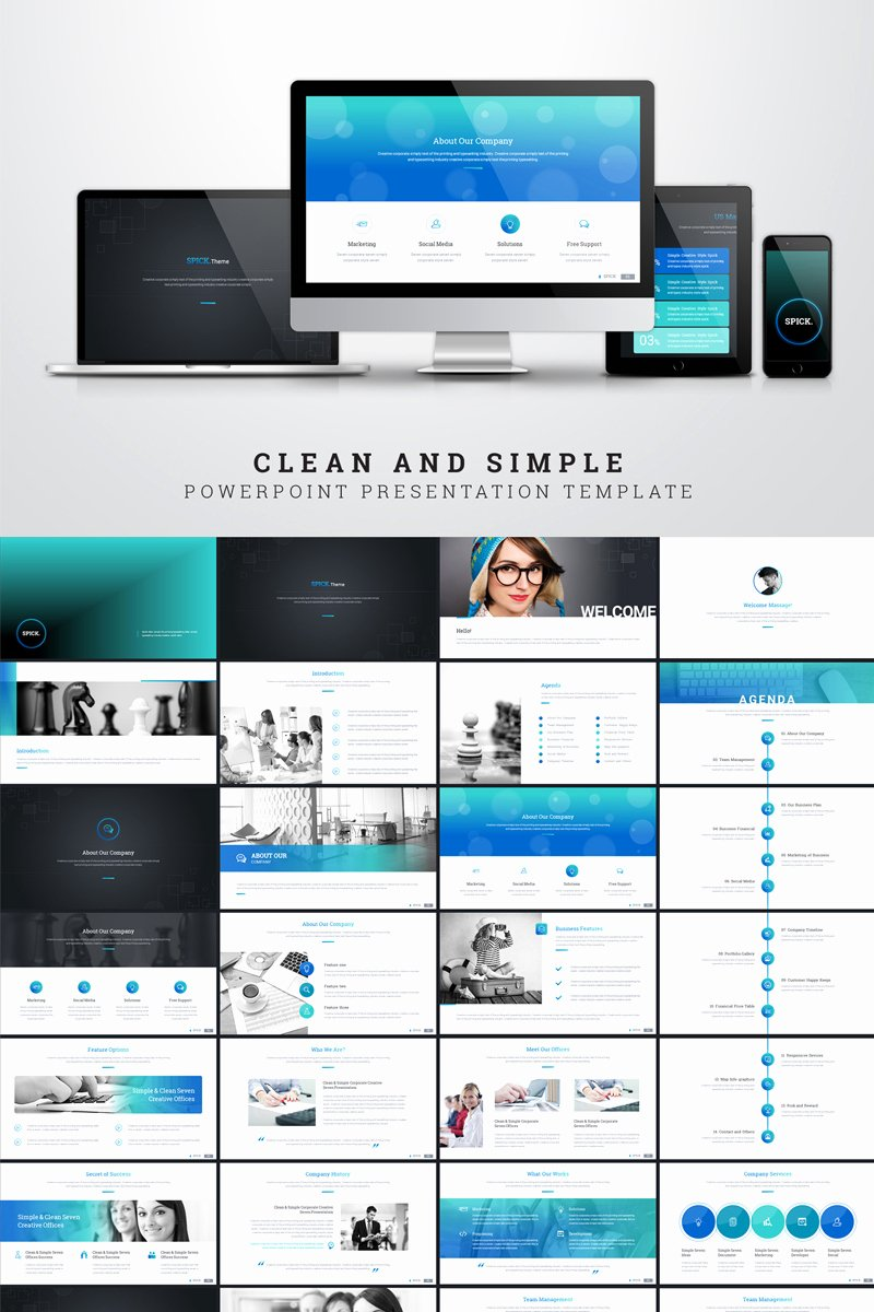 Clean Powerpoint Templates Free Elegant Clean and Simple Presentation Special topic Powerpoint