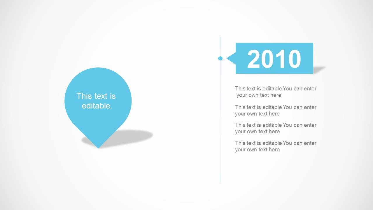 Clean Powerpoint Templates Free Fresh Timeline Milestone Slide Design Description 1 Year