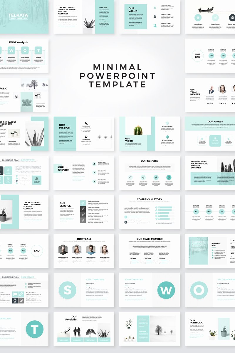 Clean Powerpoint Templates Free Lovely Telkata Minimal Clean Presentation Powerpoint Template
