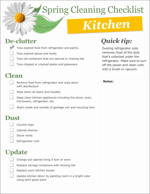 Cleaning Checklist Template Word Awesome 28 Cleaning Checklist Samples & Templates Samples In