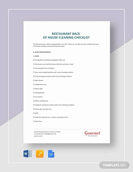 Cleaning Checklist Template Word Best Of 28 Cleaning Checklist Samples & Templates Samples In