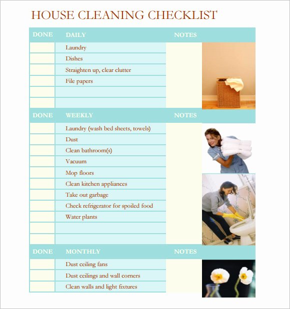 Cleaning Checklist Template Word Fresh Sample House Cleaning Checklist 12 Documents In Pdf Word