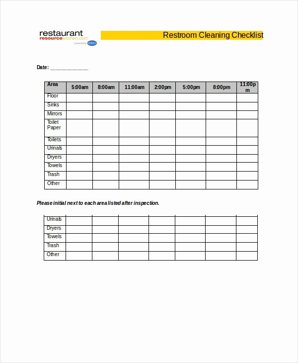 Cleaning Checklist Template Word Inspirational Cleaning Checklist 31 Word Pdf Psd Documents Download