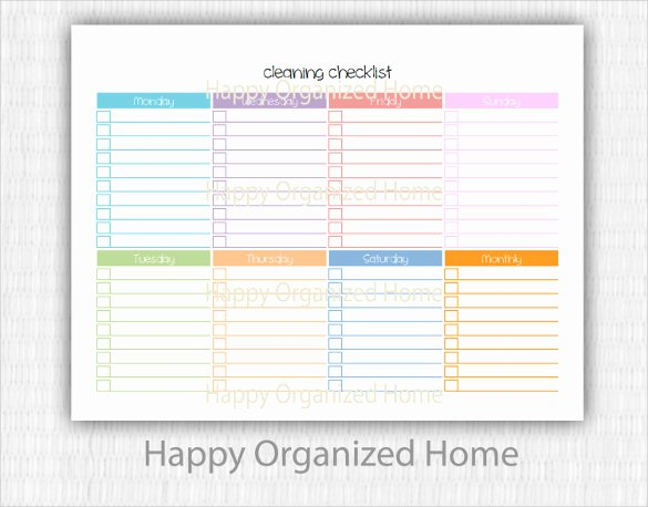 Cleaning Checklist Template Word Lovely Editable Cleaning Schedule Template
