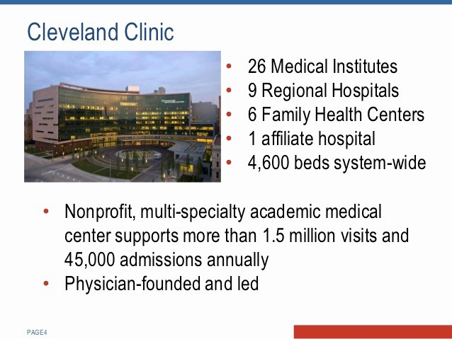 Cleveland Clinic Doctors Note Luxury Creating Enchantment with Referring Physicians Cleveland