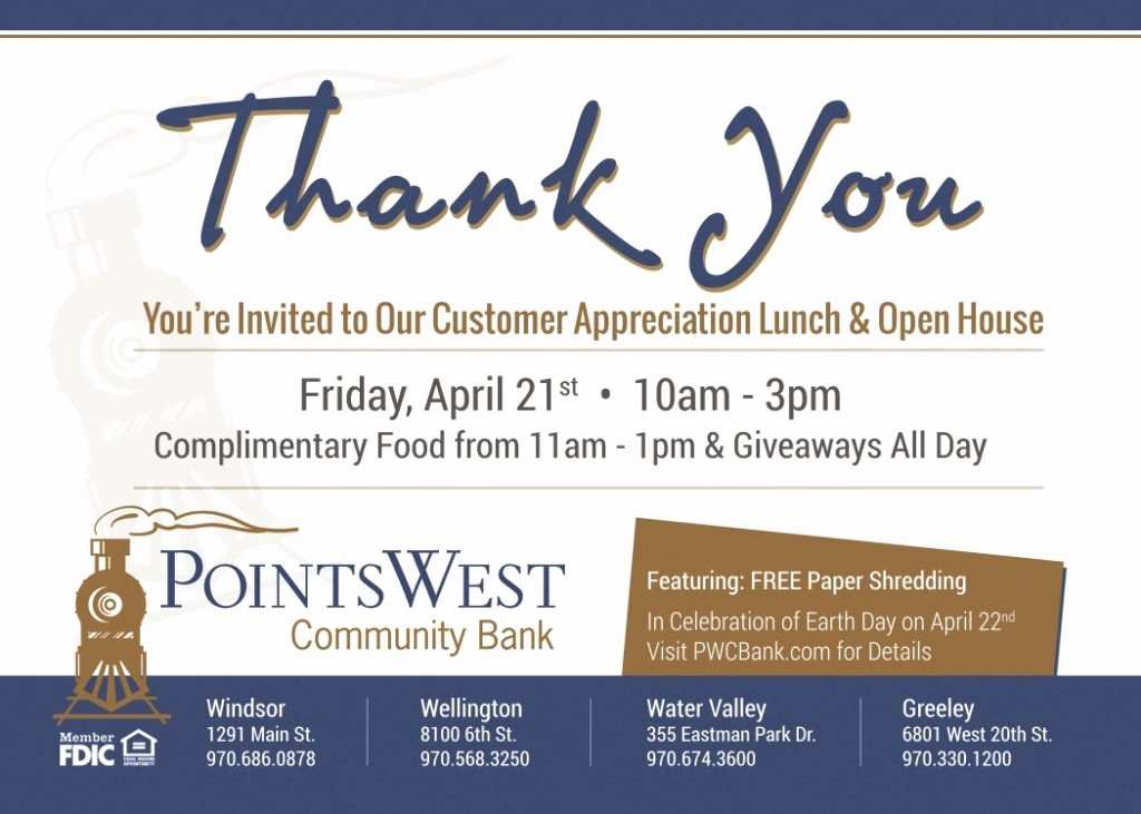 Client Appreciation Invitation Wording Awesome Customer Appreciation Lunch & Open House