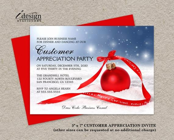 Client Appreciation Invitation Wording Best Of Holiday Customer Appreciation Party Invitations Festive Diy