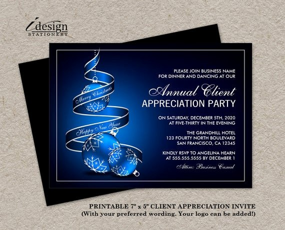 Client Appreciation Invitation Wording Fresh Elegant Holiday Customer Appreciation Party Invitations Diy