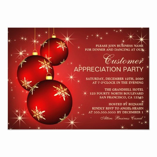 Client Appreciation Invitation Wording Lovely Holiday Customer Appreciation Invitation Templates