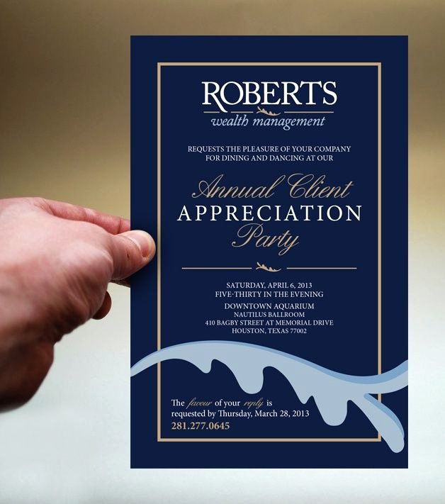 Client Appreciation Invitation Wording Luxury Client Appreciation Party Invitations Google Search