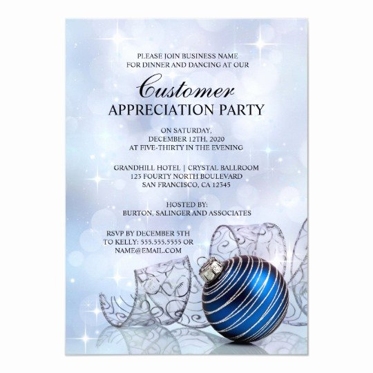 Client Appreciation Invitation Wording New Holiday Customer Appreciation Party Invitations